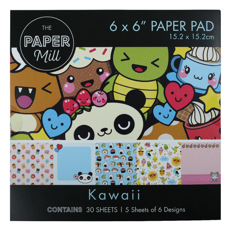 Olive Drab The Paper Mill  Kawaii Paper Pad  6 x 6 Inch 30 Sheets Paper Packs