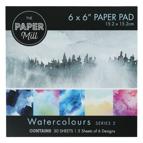 The Paper Mill 6 x 6 Inch Paper Pad Series 2 30 Sheets Watercolour