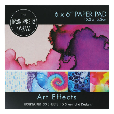 The Paper Mill 6 x 6 Inch Paper Pad 30 Sheets Art Effects