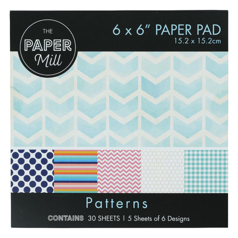 The Paper Mill 6 x 6 Inch Paper Pad 30 Sheets Patterns