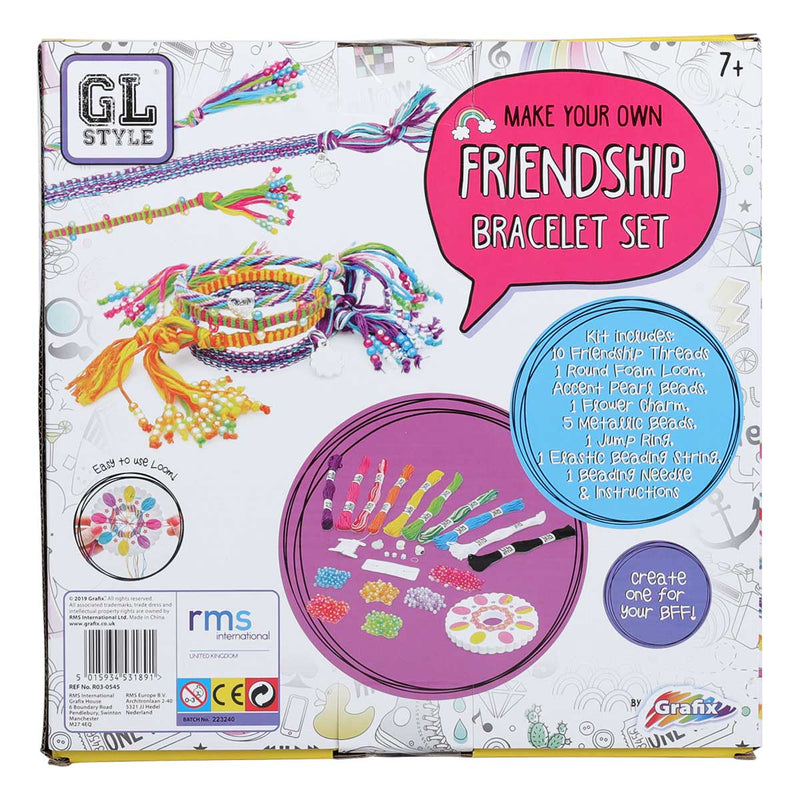 Rosy Brown GL Style Make Your Own Friendship Bracelet Set Kids Kits