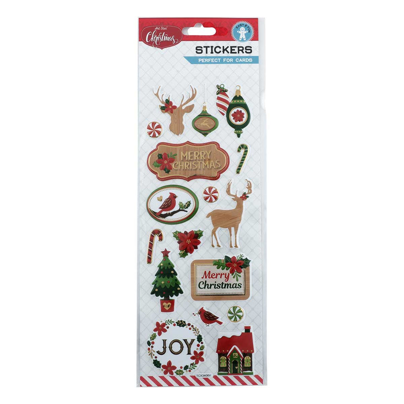 Art Star Xmas Foil Pop Up Stickers
