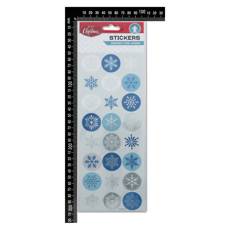 Art Star Christmas Snowflake Foil Stickers
