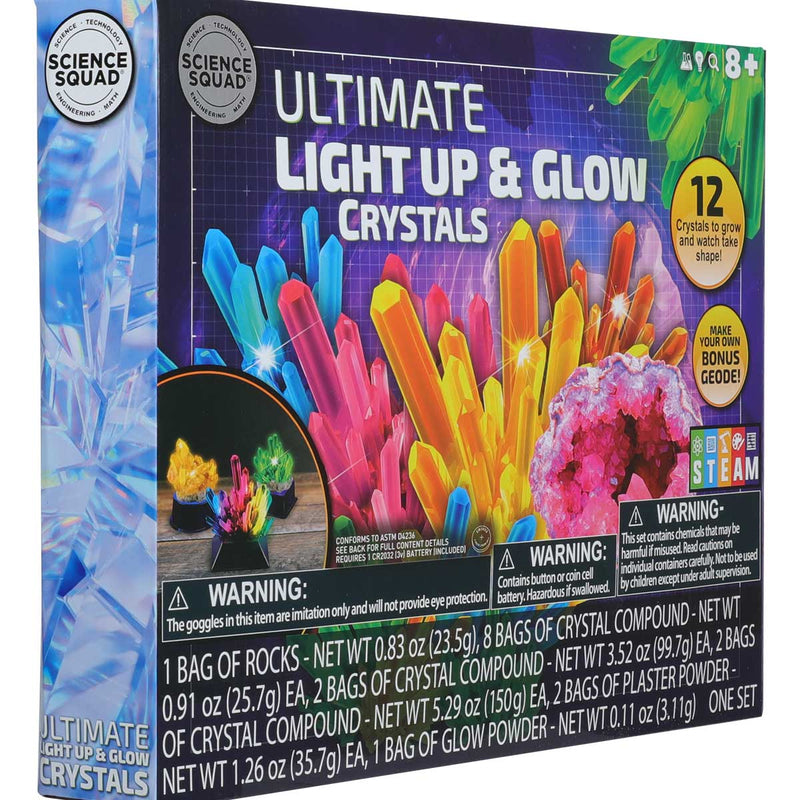 Maroon Science Squad Ultimate Light Up Crystal Growing Kit Kids Kits