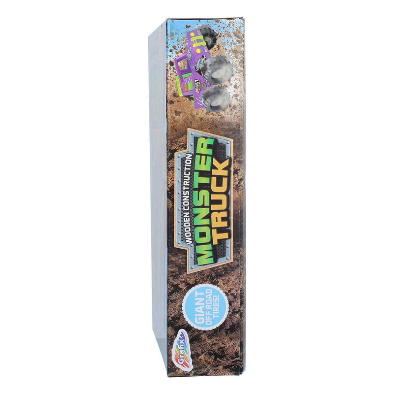 Gray Grafix Wooden Monster Truck Kids Kits