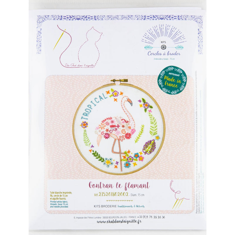 Tan Gontran the Flamingo - Embroidery Kit 15cm Needlework