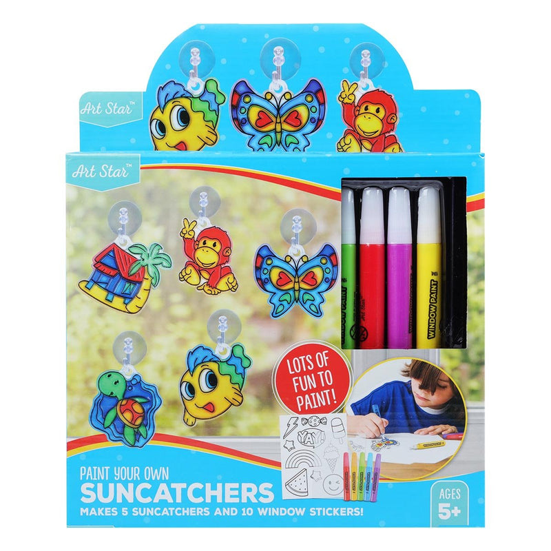 Firebrick Art Star Make Your Own Suncatchers and Window Stickers Kids Kits