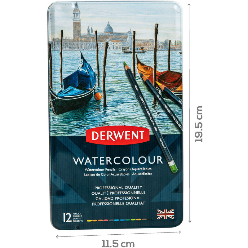 Firebrick Derwent Watercolour Pencils Set Of 12 Pencils