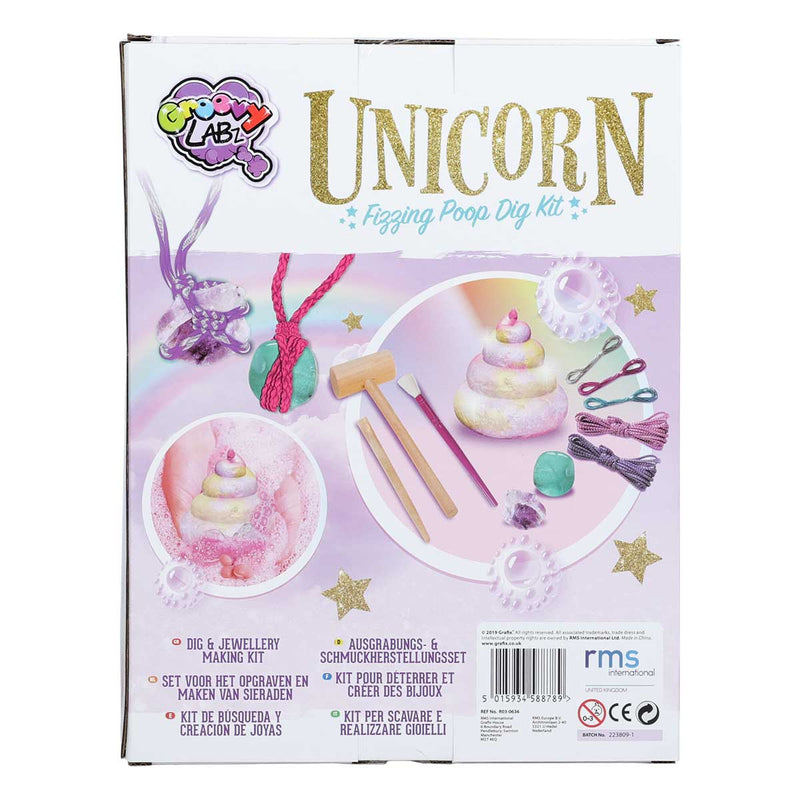 Unicorn Fizzing Dig & Jewellery Making Kit