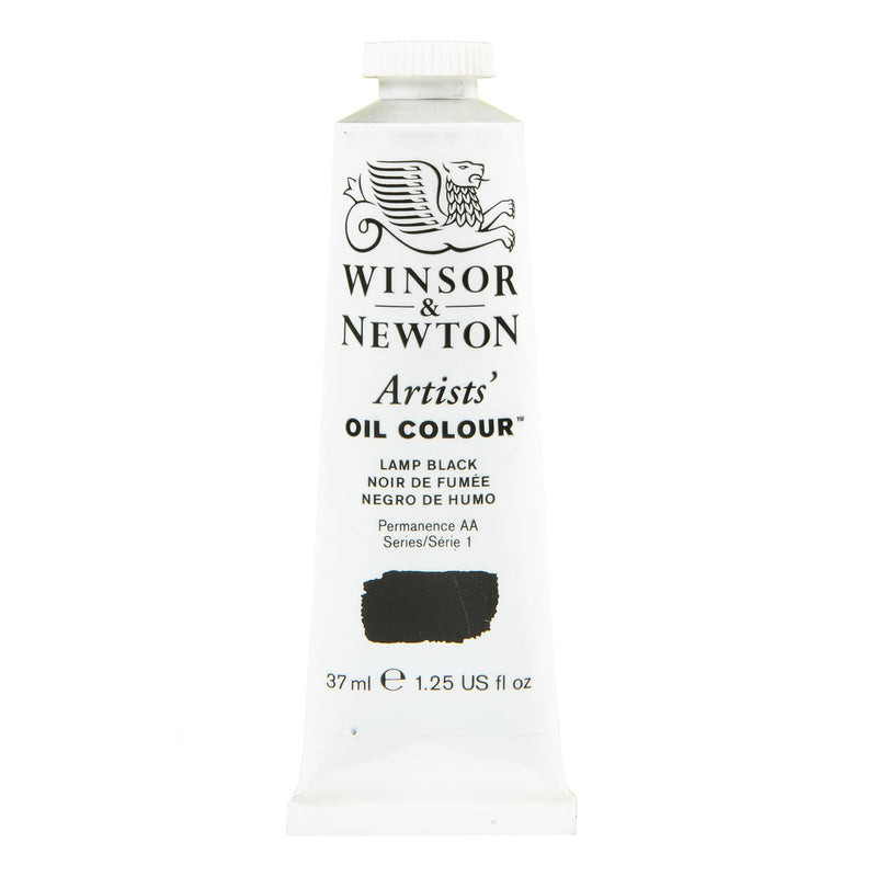 White Smoke Winsor & Newton Artists' Oil Colour Paint 37ml Lamp Black Series 1 Oil
