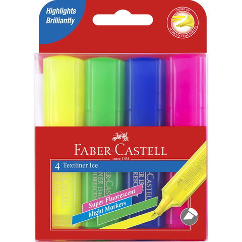 Faber Castell Ice Highlighters Wallet 4
