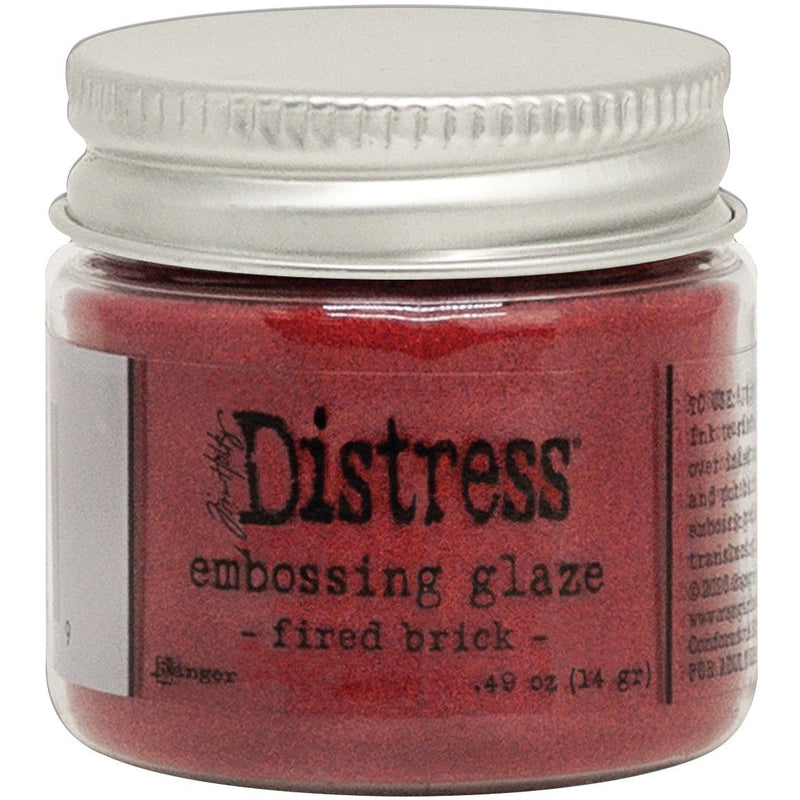 Sienna Tim Holtz Distress Embossing Glaze Fired Brick Paper Craft