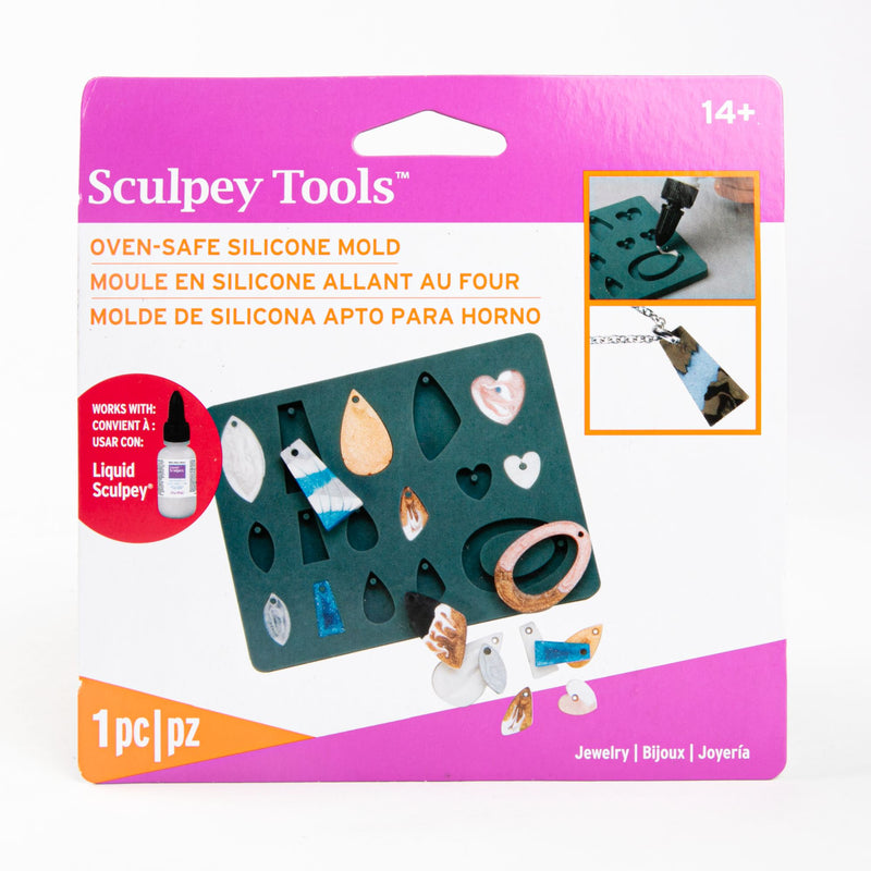 Dark Slate Gray Liquid Sculpey Silicone Bakeable Mold W/Squeegee Jewerly Modelling