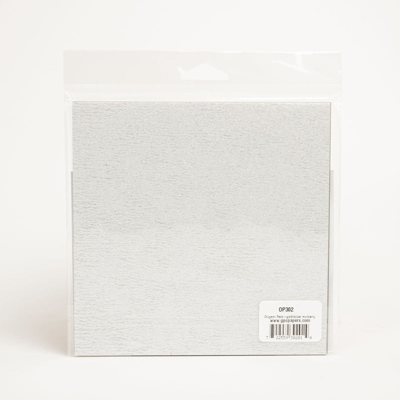 Light Gray Origami Paper Pack - Metallic Mulberry 24 Sheets Origami
