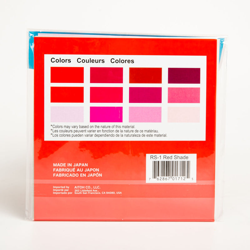 Red Origami Paper 15cmX15cm 48/Pkg - Shades of Red 12 Colours Origami
