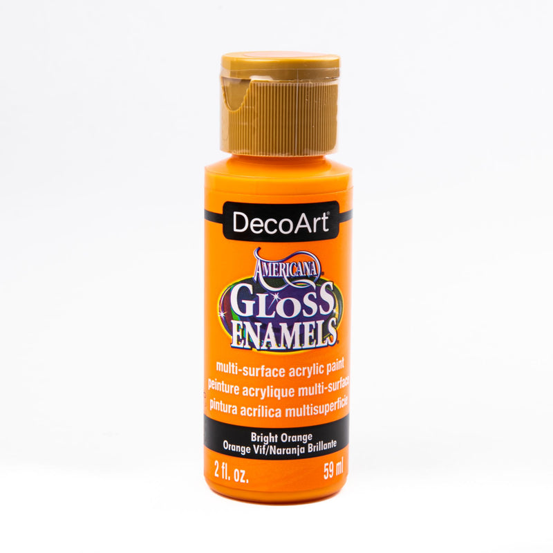 Dark Orange Americana Gloss Enamels Acrylic Paint 59ml - Bright Orange Gloss Enamels Glass and Ceramic Paint