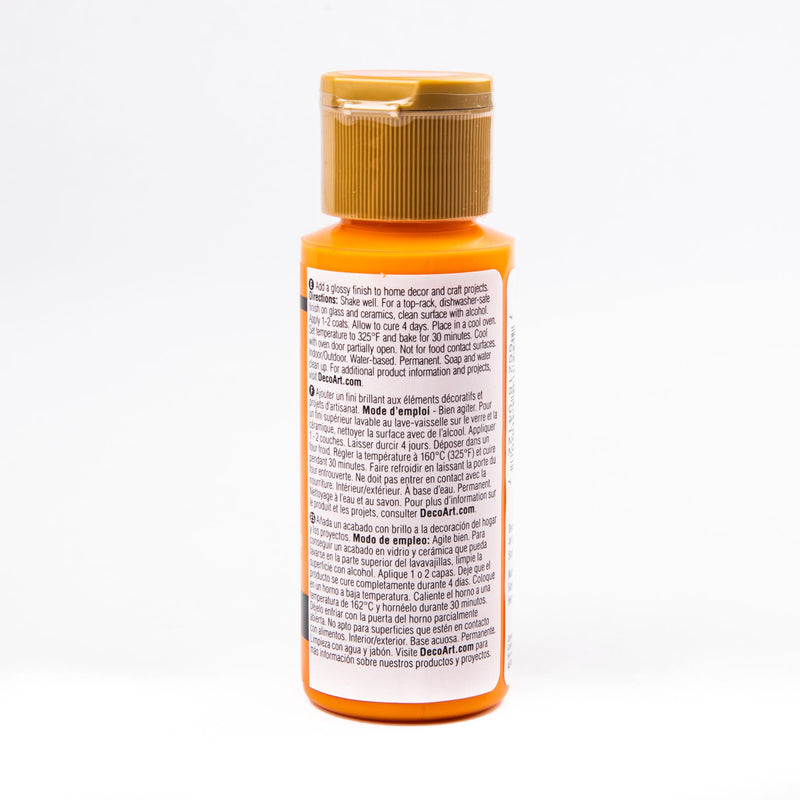 Gray Americana Gloss Enamels Acrylic Paint 59ml - Bright Orange Gloss Enamels Glass and Ceramic Paint