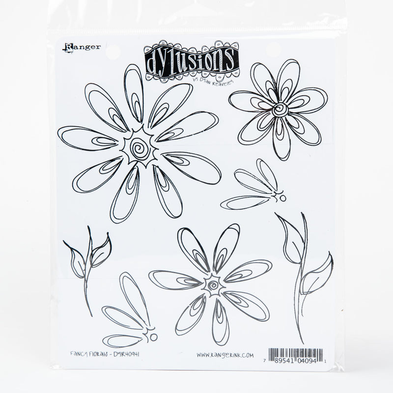 White Smoke Dyan Reaveley's Dylusions Cling Stamp Collections 21x17.5cm - Fancy Florals Stamps
