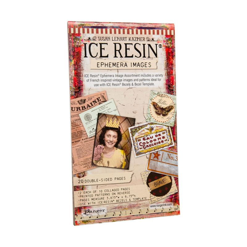 Gray Ice Resin Ephemera Image Assortment 20/Sheets Double Sided Resin