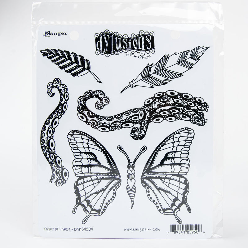 Lavender Dyan Reaveley's Dylusions Cling Stamp Collections 21x17.5cm - Flight of Fancy Stamps