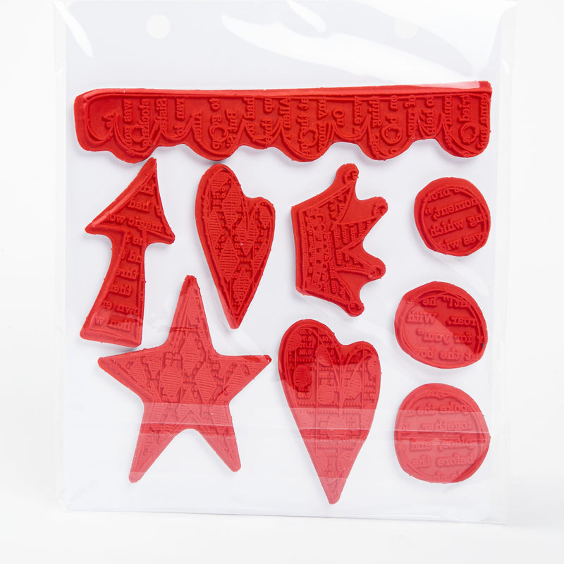 Firebrick Dyan Reaveley's Dylusions Cling Stamp Collections 21x17.5cm - Star Struck Stamps