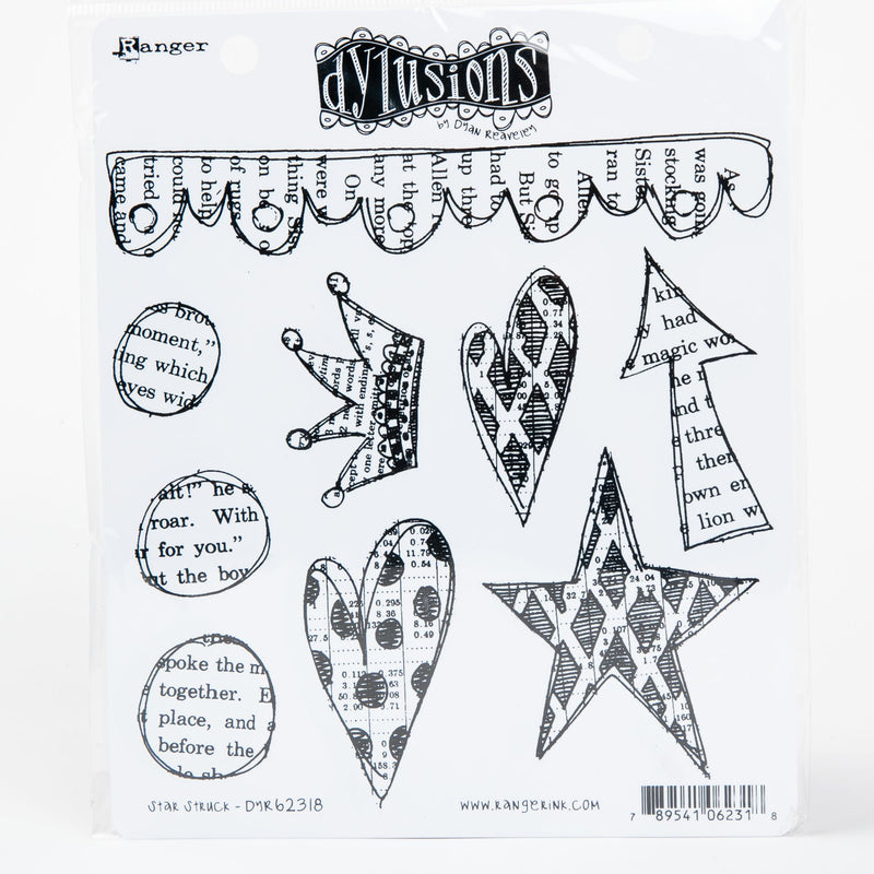 Lavender Dyan Reaveley's Dylusions Cling Stamp Collections 21x17.5cm - Star Struck Stamps