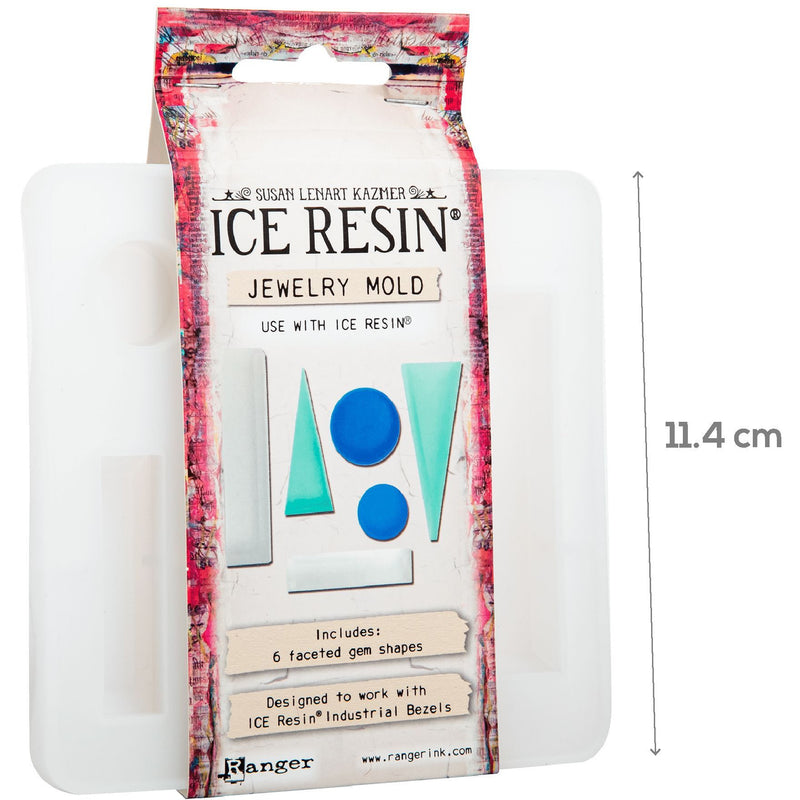 Beige Ice Resin Jewelry Mold - Industrial Bezel Inserts Resin