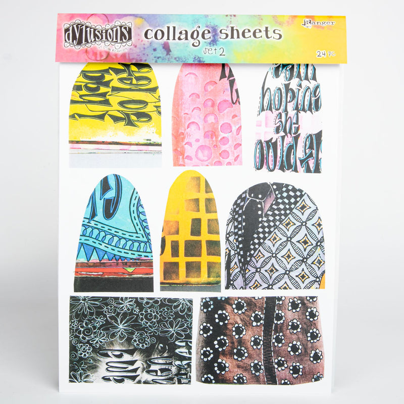 Light Goldenrod Dyan Reaveley's Dylusions Collage Sheets 21.5x27.5cm 24/Pkg - Set 2 Journaling Accessories