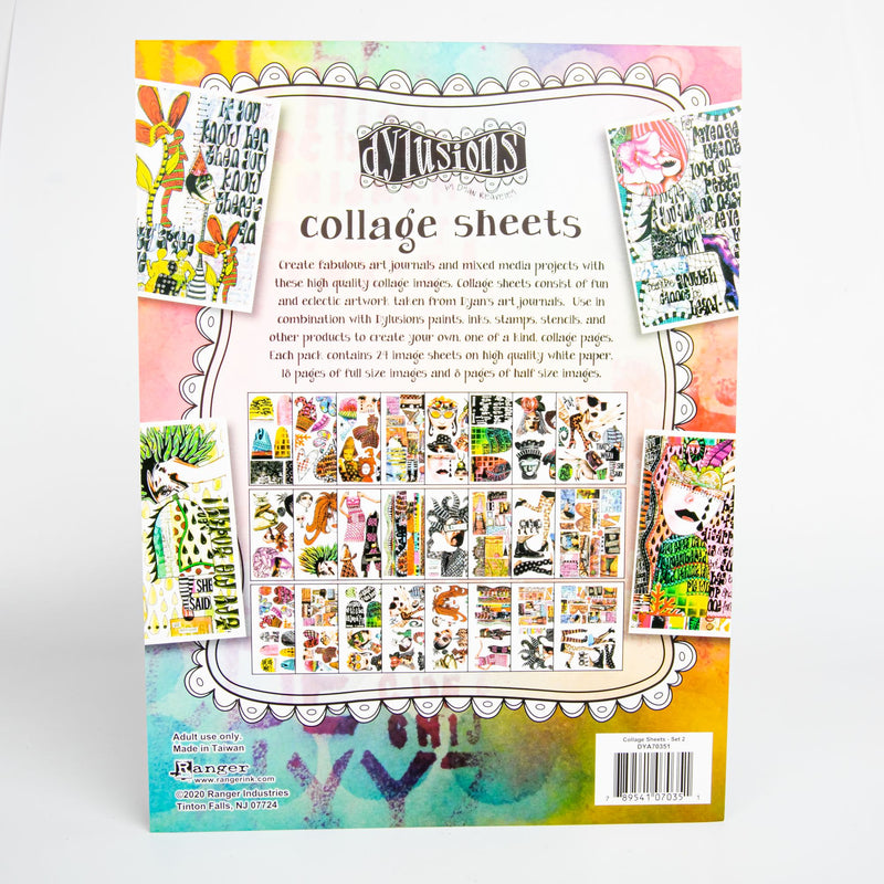 Bisque Dyan Reaveley's Dylusions Collage Sheets 21.5x27.5cm 24/Pkg - Set 2 Journaling Accessories