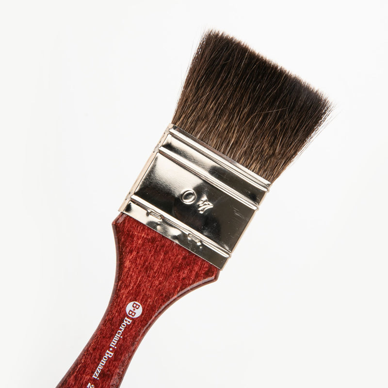 Brown Borciani Bonazzi Professional Artist Paint Brush Squirrel Series 201/V Size 40 Simple Thickness Brushes