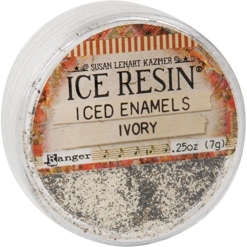 Tan Iced Enamels Relique Powder 15ml - Ivory Resin