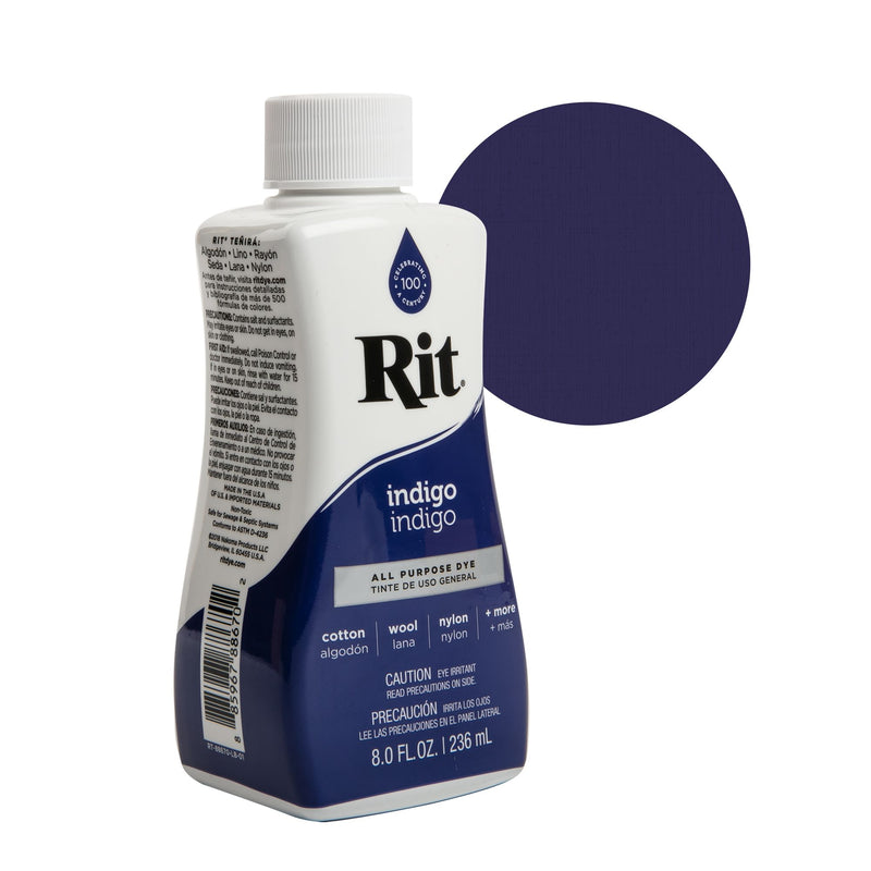 Dark Slate Gray Rit Dye Liquid 236ml - Indigo Fabric Paints and Dyes