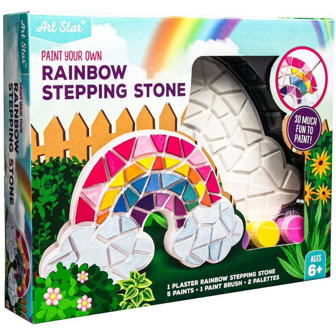 Image of Artstar Decorate Your Own Stepping Stone Rainbow
