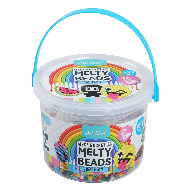 Gray Art Star Mega Bucket of Melty Beads 6000+ Beads Kids Kits
