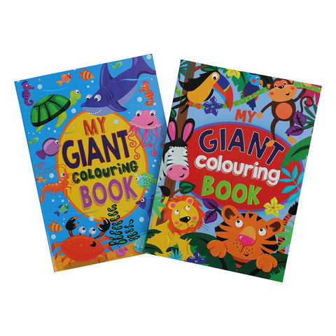 My Giant Colouring Book 264 Pages Sea, Jungle