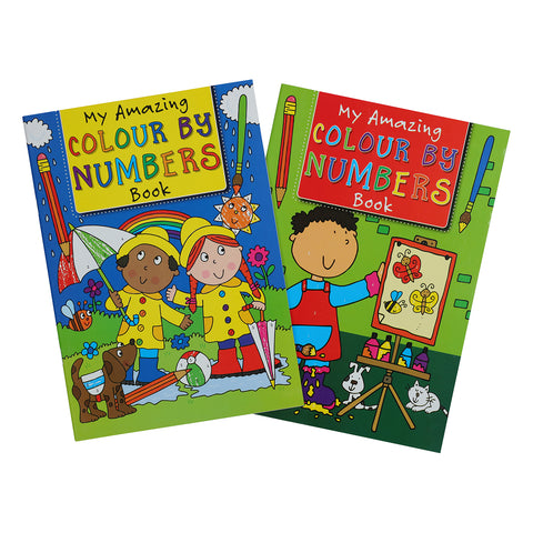 A4 Kids Colour  By Number Book 32 Pages