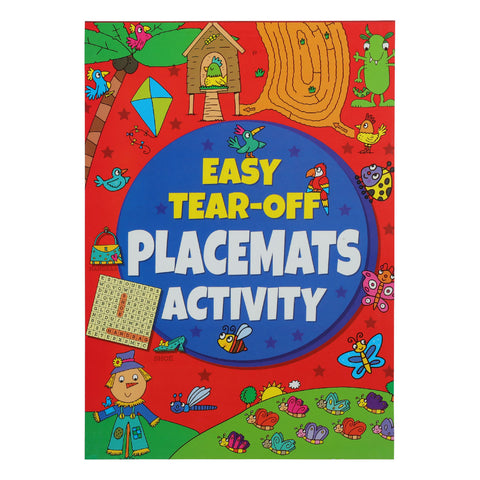 A4 Kids Activity Placement Pad 32 Pages 80Gsm Tear Off Activity Sheets