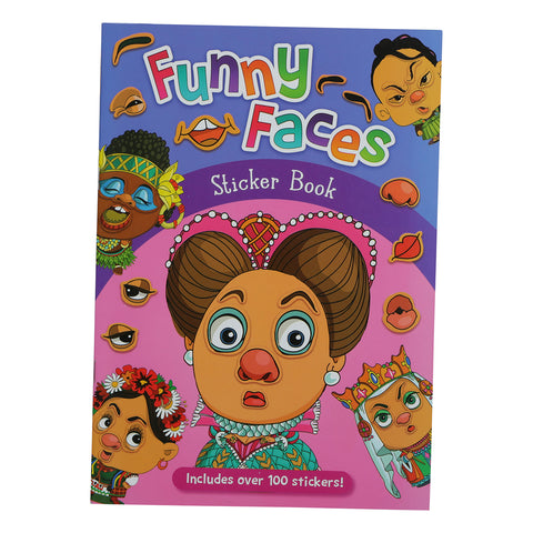 Kids Funny Faces Sticker Book 16 Pages + 2 Sticker Sheets 130 Gsm Paper