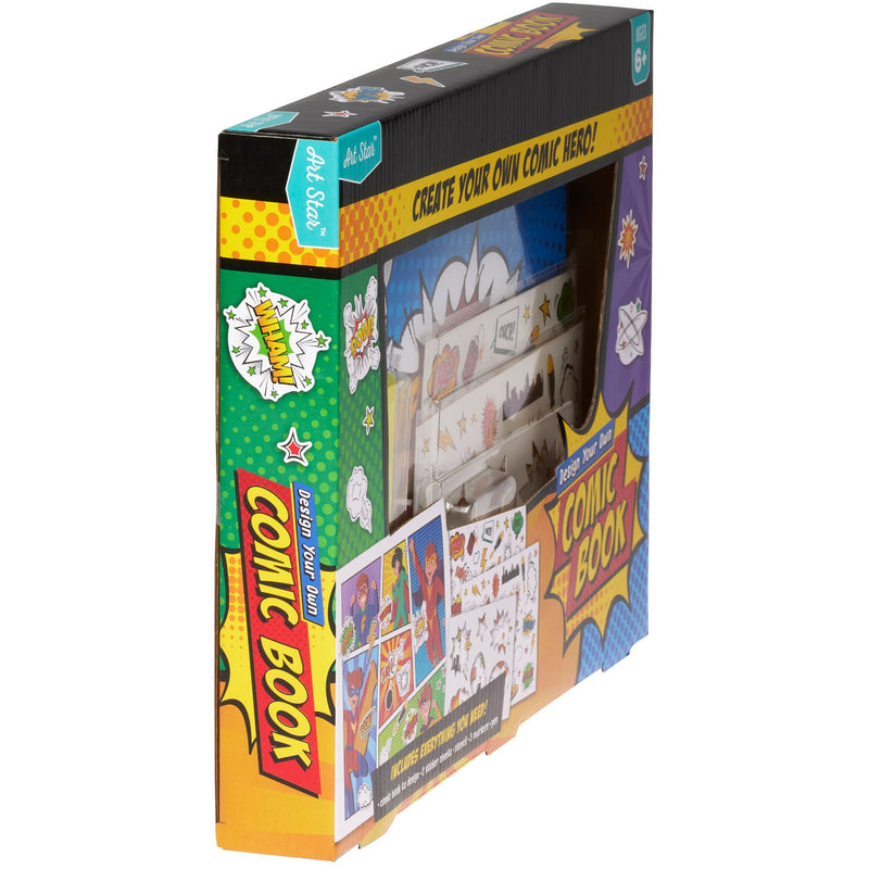 Medium Sea Green Art Star Design Your Own Comic Book Kit Kids Kits
