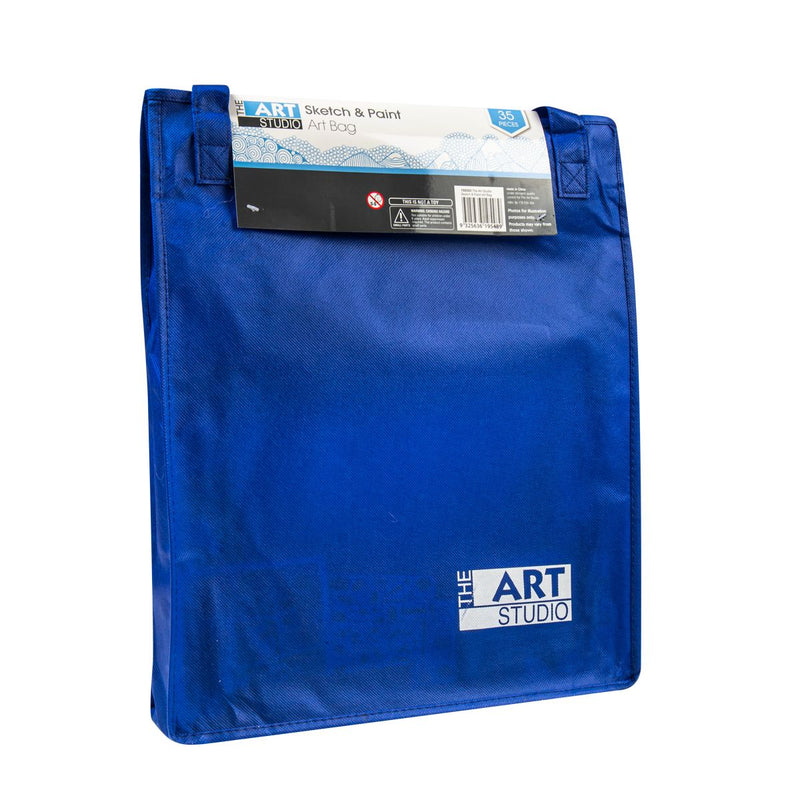 Midnight Blue The Art Studio Ultimate Sketch & Paint Art Bag 35 Pieces Art Accessories