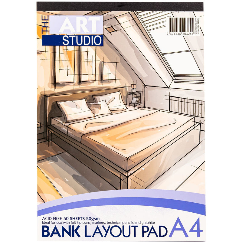 Bisque The Art Studio A4 Bank Layout 50gsm Pad 50 Sheets Pads