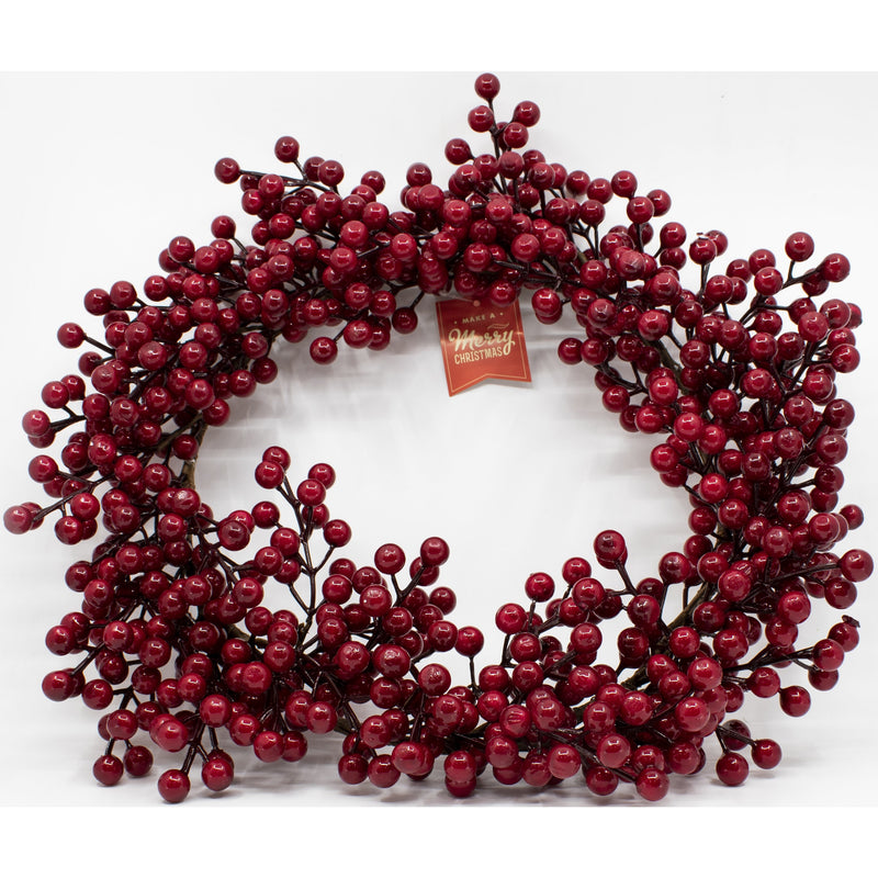 Make A Merry Christmas  Red Berry Wreath 50Cm