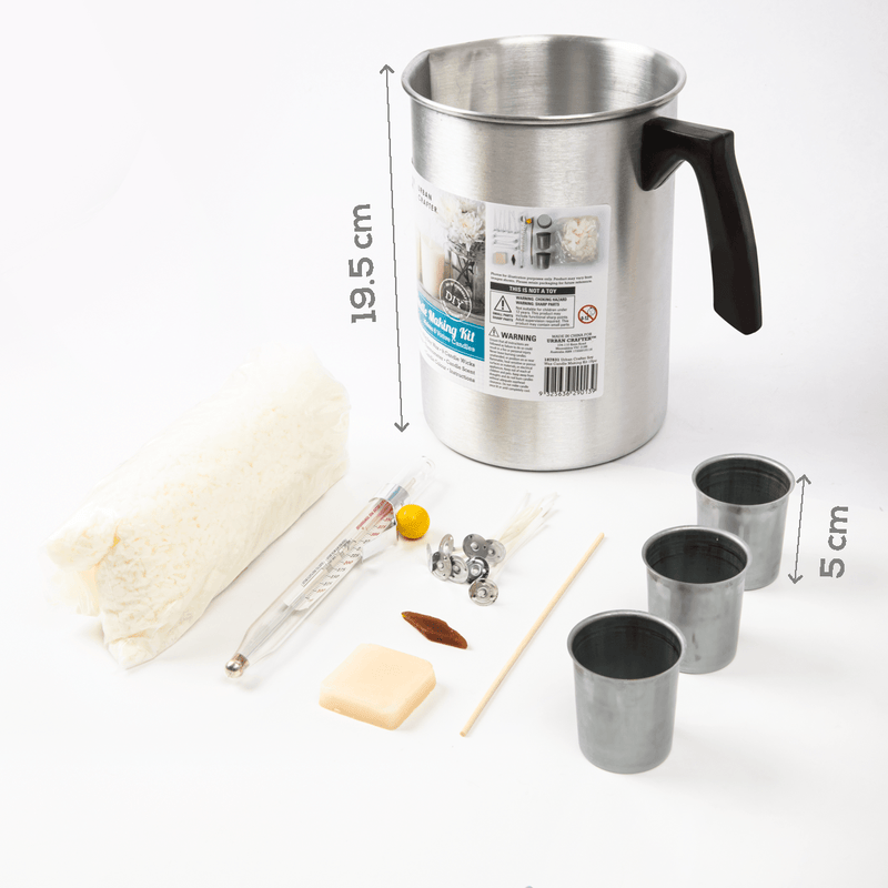 Gray Urban Crafter Soy Wax Candle Making Kit 19pieces Candle Making