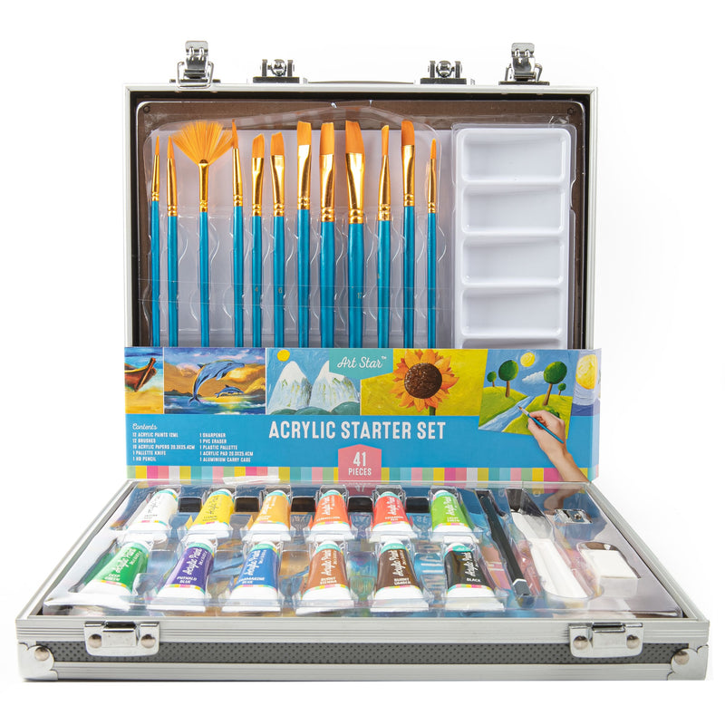 Steel Blue Artstar Acrylic Artist Set 41pc Acrylic