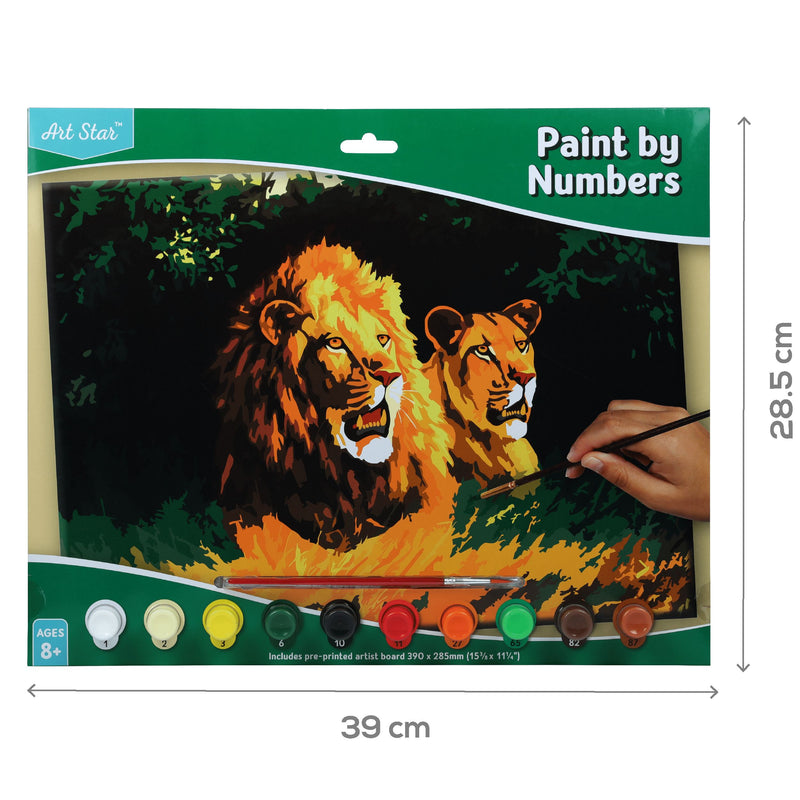 Chocolate Art Star Paint By Numbers Lions Large Kids Kits