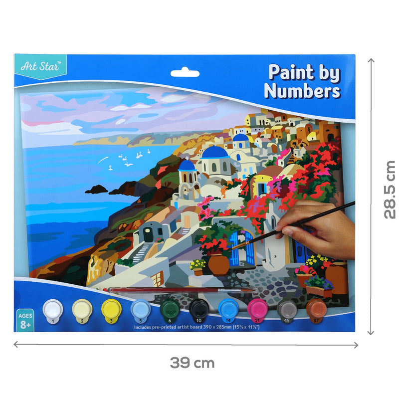 Dodger Blue Art Star Paint By Numbers Santorini Large Kids Kits