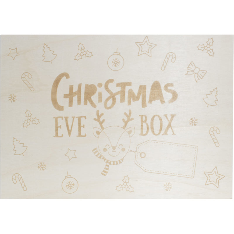 Light Gray Wooden Keepsake Christmas Eve Box With Personalised Tag Option Christmas