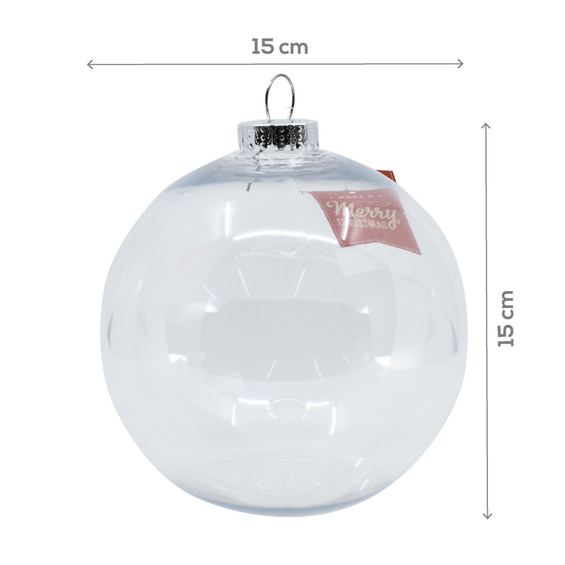 Lavender Make A Merry Christmas Bauble Clear 150mm Christmas
