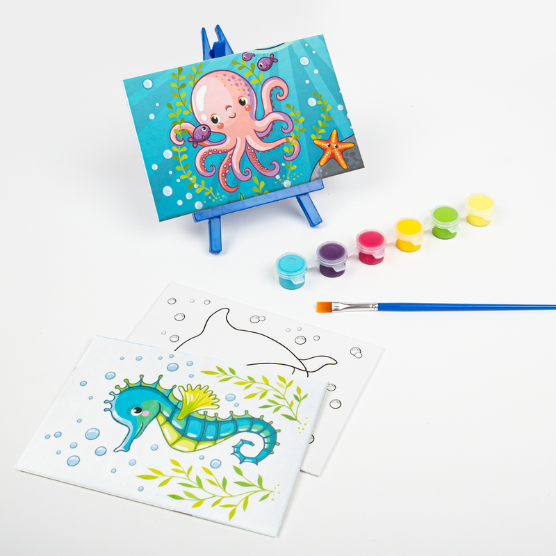 Light Sea Green Art Star Canvas and Easel Set Makes 3 Kids Kits