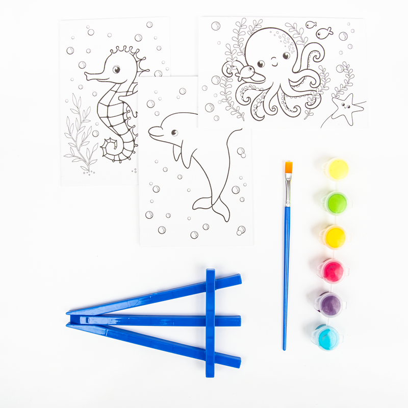 Dark Slate Blue Art Star Canvas and Easel Set Makes 3 Kids Kits